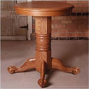 "Great American Barstools 30X36-O Oak 36"" H x 30"" W Straight or Turned Pub Table"