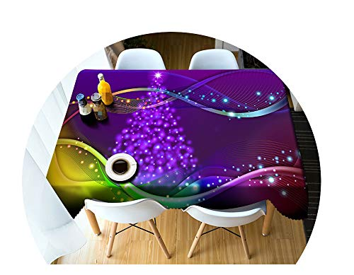 COOCOl Great 3D Tablecloth Christmas Color Line Fireworks Washable Cloth Thicken Rectangular Round Table Cloth,A,90 X 150Cm -