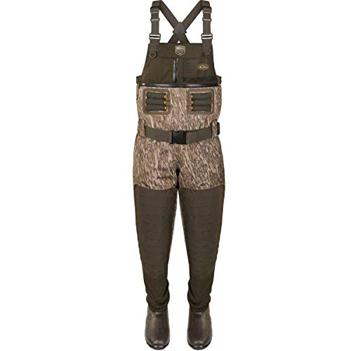 Drake Guardian Elite 4-in-1 Chest Waders Polyester Mossy Oak Bottomland Camo.