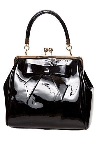 Dancing Days American Vintage Rockabilly Retro 50s Top Handle Bag Handbag - Black (One Size)