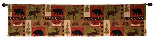 - Carstens, Inc JP593 Patchwork Lodge Plush Valance, Multi