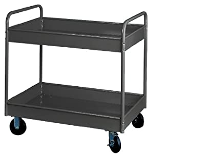 """Equipto 150-GY Stock Cart with 2 Trays, 500lbs Capacity, 36"""" L x 24"""" W x 36"""" H, Smooth Office Gray"""