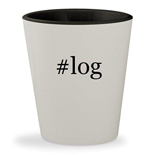 Price comparison product image #log - Hashtag White Outer & Black Inner Ceramic 1.5oz Shot Glass