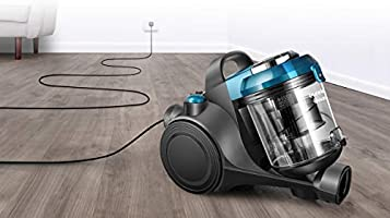 Eureka Swan Multi Clean Cyclonic Pet Bagless Cylinder Vacuum, Pet Turbo Head Ideal for Removing Pet Hair, Compact and Lightweight, Light Blue,