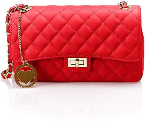 De Rojo Shoppers Chicca rosso Borse Hombro Cbc7706tar Y Bolsos Mujer qXx418Ow