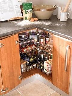 Corner Carousel 3/4 Carousel Set Kitchen Cuboard Storage System 900mm