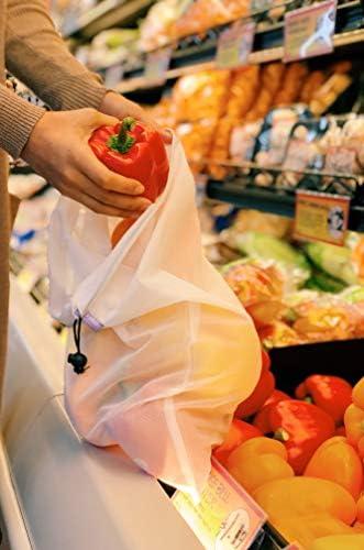 purifyou Set of 9 Premium Reusable Produce Bags   Fruits, Vegetables, Storage