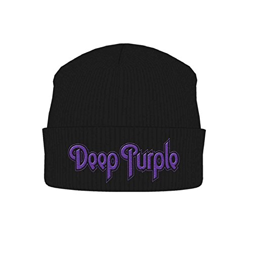 Logo Deep Beanie nuevo negro Cap classic de Purple Oficial Sombrero fqwRYfr