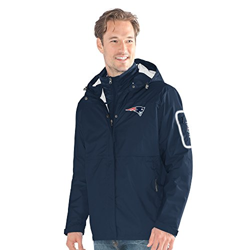 G-III Sports NFL England Patriots Acclimation 3-in-1 Systems Jacket, 3X, Navy (Jacket Mens G-iii)