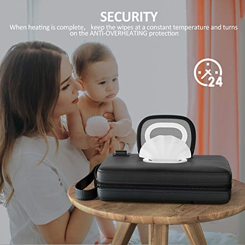 41Gn0EOzfgL - Portable-Baby-Wipe-Warmer Version 2.0,Leather Handbag Design,USB Cable Link To Portable Charger To Heat Wipes,Perfect For Travel Or On The Go,Diaper Change Snugly For Infant