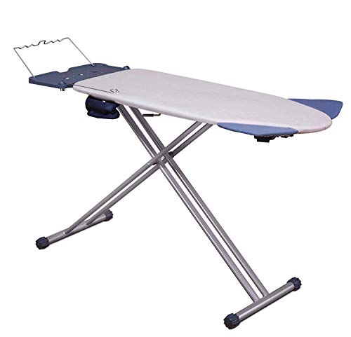 (Mabel Home Extra-Wide ironing Pro Board with Shoulder Wing Folding, 8 Feature, with + Extra Cover)