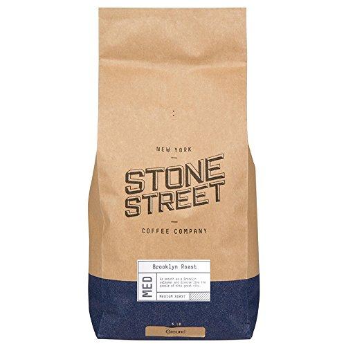 BROOKLYN SIGNATURE BLEND| Ground Gourmet Coffee | 5 LB Bulk Bag | Medium – Dark Roast Level - Bold & Balanced | 100% Arabica | Made in (French Roaster)