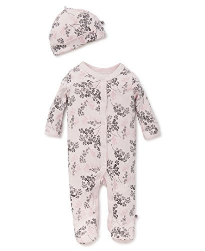 Offspring - Baby Apparel Baby Girls' Newborn Footies, Delicate Blush, 3M