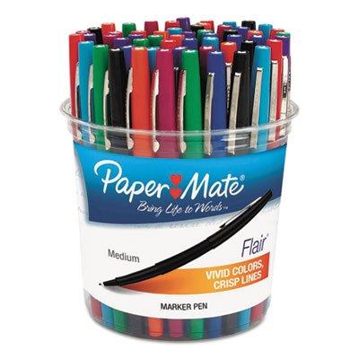 Price comparison product image Flair Felt Tip Marker Pen, Assorted Ink, Medium, 48 Pens/Set, Sold as 48 Each