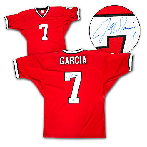 f7af54a458d Jeff Garcia Calgary Stampeders Autographed Custom CFL Football Jersey