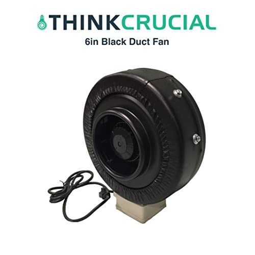 70%OFF Durable black Inline Fan, 6-Inch, Part # IF6; Perfect for Grow Rooms Cigarette Smoke, Foul Odor Emissions, Pet Dander, Plant Emissions, Allergenic Pollutants & More, by Think Crucial