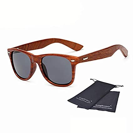 Amazon.com: Oval Sunglasses for Women Men Wooden Legs Sun ...