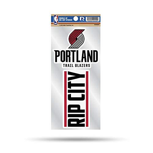 - NBA Portland Trail Blazers Double Up Die Cut 2-Piece Sticker Sheet