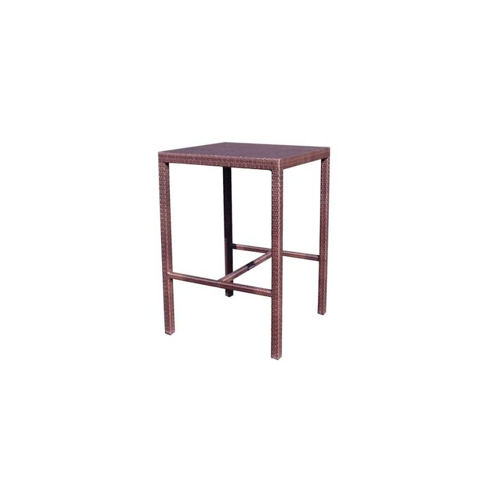White Craft S601734N Natural All Weather Miami Square Bar Table