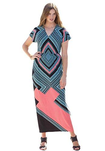 Womens-Plus-Size-Graphic-Print-Maxi-Dress