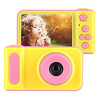 "Hoseten Cute Plastic and Metal Kids Digital Camera Children Camera 2.0"" Color Screen for Children, Kids and Birthday Gift(Pink)"