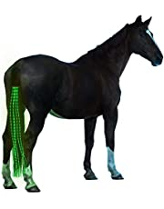 55cm/100cm Horse Tail USB Light Chargeable LED Crupper Horse Harness Equestrian Horse Riding Cheval Equitation