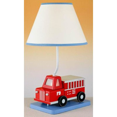 Juvenile Fire Truck Table Lamp with Night Light - Juvenile Kids Table