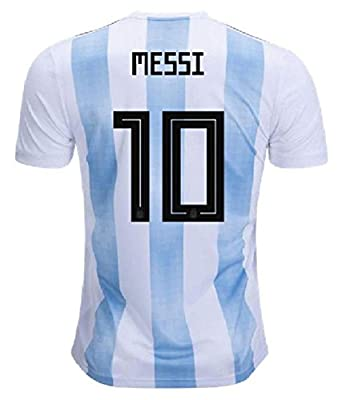 buy popular 6814b 3b909 Roots4creation Men's Polyester Messi Printed Argentina Football World Cup  Jersey (Multicolour, Small)