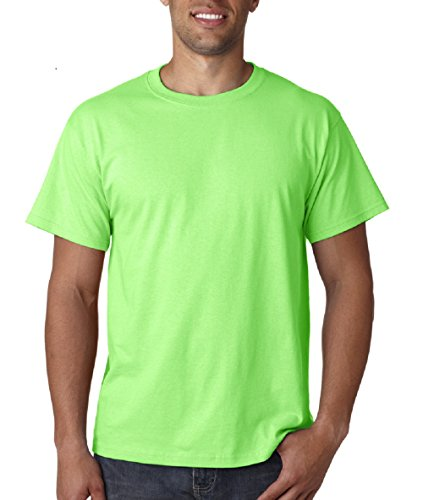Fruit Of The Loom Heavy Cotton Hd Adult Tee (Neon Green) (XL) ()