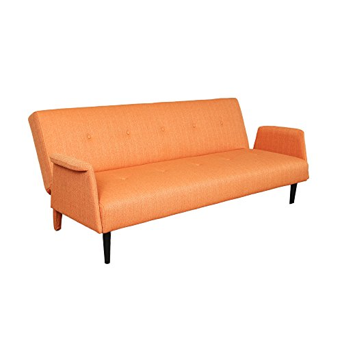 Porter Designs SWU1173A Naomi Mid-Century Modern Sofa Bed, Orange