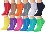 Tipi Toe Women's 12-Pairs Low Cut Athletic Sport Peformance Socks, WS12-12