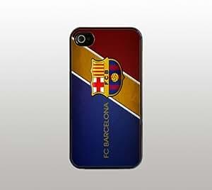 Futbol Club FC Barcelona Hard Snap-On Case for iphone 4/4s - Black - Football Soccer Liga BBVA