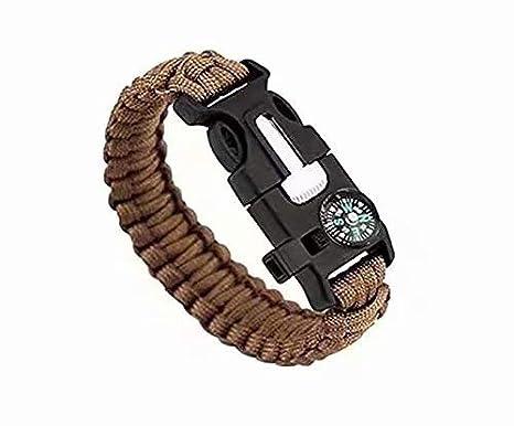 mechero rasqueta para aire libre cuerda Juego de dos pulseras de supervivencia con silbato