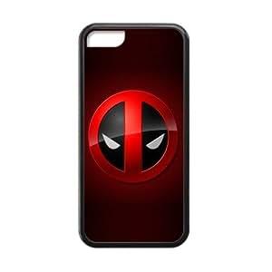superhero Deadpool Logo Marvel comic iPhone 5C Best Protective Hard Durable TPU Silicone Rubber Back Cover Case XXS-6539