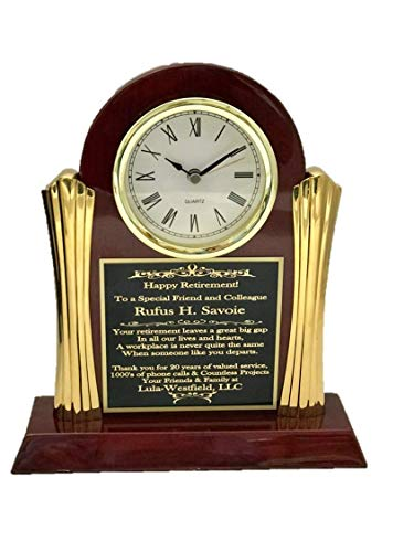 - NEW WORLD ACCENTS Beautiful Personalized Clock for Retirement Gift, Achievement, Graduation, Customer Service Award, Police, Corporate, Firefighters, USMC Retirement, Medical School Graduation