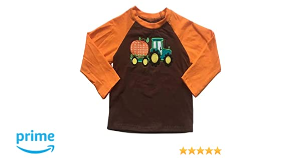 LOTUCY Halloween T-Shirts Baby Boy Girl Truck Pumpkin Print Long Sleeve Raglan Thanksgiving Shirts Baseball Tops