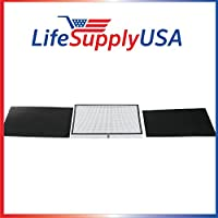 2 Pack Replacement Filter kit to fit Oreck OptiMax Medium Room Air Purifier AIR95 by LifeSupplyUSA