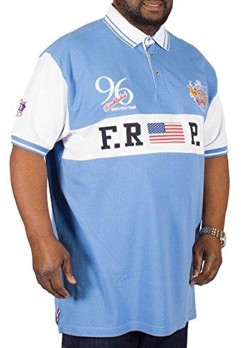 D555 Herren Poloshirt blau blau