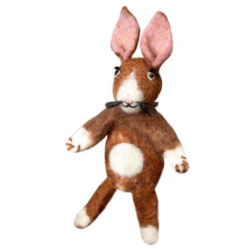 Fair Trade Finger Puppet Rabbit - Easter Basket Gift Bunny Dzi Wild Woolie