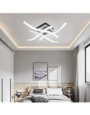 AUA Lampy sufitowe LED, nowoczesne lampy sufitowe, oświetlenie wewnętrzne, 1440 lumenów, 6000 K, 24 W, do salonu, sypialni