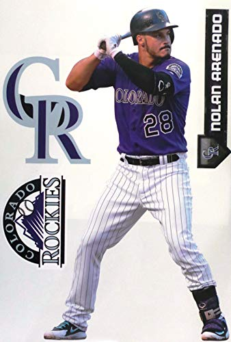 FATHEAD TEAMMATE Nolan Arenado Colorado Rockies Logo Set Official MLB Peel and Stick Re-Usable Vinyl Wall Graphics 17