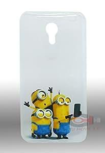 TUMOVIL_3.0® Funda gel dibujo amarillo Minions Gru mi Villano Selfie Sony Xperia M4 Aqua