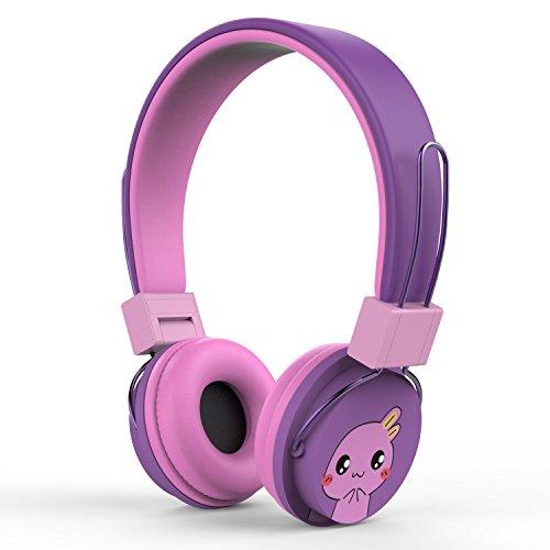 MoKo Kinder Kopfhörer - 1.5m / 4.9ft On-Ear-Kopfhörer Music Gaming Wired Leichtkopfhörer Headset Headphone mit Lautstärkenregler für IOS / Android Smartphones, Tablets, Computer, MP3 / 4 Players, Violett