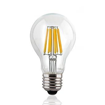 Lucero LED Filament Healthy Edison Light Bulb - Dimmable Warm ...:Lucero LED Filament Healthy Edison Light Bulb - Dimmable Warm White 6W -  60W Equivalent UL Listed A19 E26/27 Base 2700K,Lighting