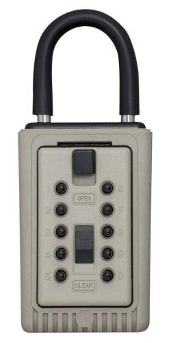 Kidde AccessPoint 001404 KeySafe 3-Key Portable Push Button Key Safe Box, Clay