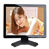 17' Inch CCTV Monitor HD 12801024 Portable Display TFT LCD Color Video Monitor with BNC HDMI VGA AV Input for FPV DVR CCTV Cam Car Monitor PC Computer Monitor Home Office Surveillance System (17 Inch)