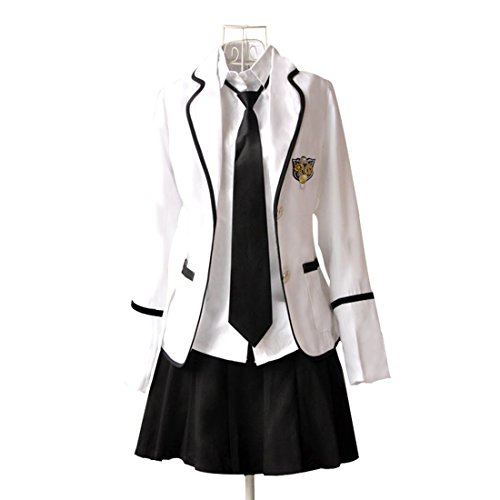 URSFUR Womens British Style Japan School Uniform Sets Cosplay Costume Anime Girl - 70s School Girl Costume