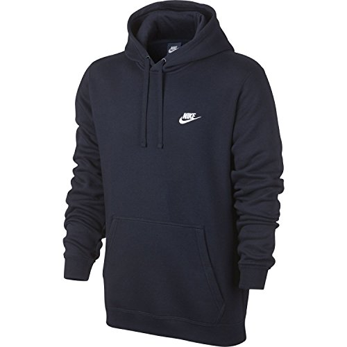 Nike Mens Sportswear Pull Over Club Hooded Sweatshirt - XXX-Large - Obsidian Blue/White