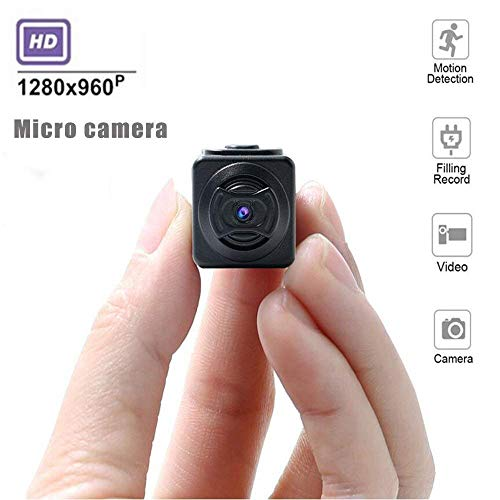 GQ D5 Mini Cámara Ocultada, 32GB HD Cámara De Seguridad Casera 1080P para La Antena Al Aire Libre DV, Hogar, Oficina, Coche...