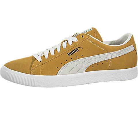 PUMA Women's Suede 90681 Sneakers, Honey Mustard White, 8.5 B(M) US by PUMA